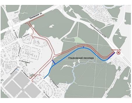 Новая четырехполосная дорога от града Московского до метро